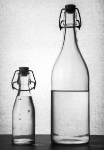 Bottles of different sizes
